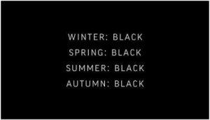 Is zwart dé kleur die het meest afkleedt?
